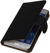 Alternate Bookstyle Flip Case Hoesje Samsung Galaxy Note 4 Zwart