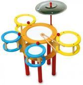 Houten speelgoed drumstel