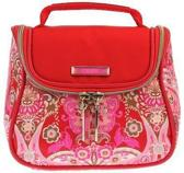 Oilily Summer Mosaic Klein Cosmetic Case Strawberry