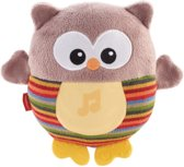 Fisher-price - knuffel uil, bruin