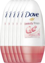 Dove beauty finish Women  - 50 ml - deodorant roller - 6 st - Voordeelverpakking