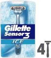 Gillette Sensor3 Ice - 4 stuks - Wegwerpmesjes