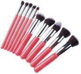 Kabuki 10 in 1 professionele cosmetische make-up kwasten set Pink zilvere