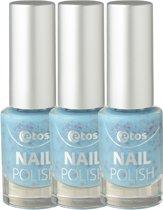 Etos Nailpolish 062 - Mint Cupcake - Cupcake - Blauw - 3 stuks - Nagellak