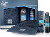 Dove Cadeaupakket - 3-delig - Men+Care Clean Comfort Douche Gel + Deodorant Spray + Sporthanddoek