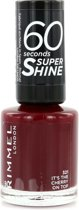 Rimmel London 60 seconds supershine nailpolish - 315 Its the Cherry On Top - Nagellak
