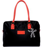Little Company - Today PopUp Shoulder Bag Square Luiertas - Rood/Zwart