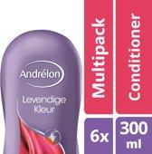 Andrélon levendige kleur  - 300 ml - conditioner - 6 st - voordeelverpakking