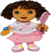 Dora tennis pluche beanie knuffel 18cm