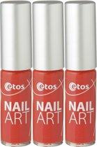 Etos Nailart 089 - Rood - 3 stuks - Nagellak