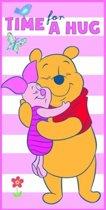 Disney Winnie de Poeh Knuffel - Strandlaken - 70x140 cm - Roze