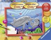 Schilder Op Nummer - Dolfijn - Verfset