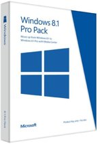 Microsoft Windows 8.1 Pro Pack N-versie Engels Internationaal- 32-bit/64-bit