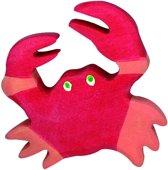 Holztiger Houten zeedieren: krab