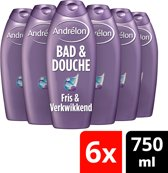Andrélon fresh  - 750 ml - douche & bad - 6 st - voordeelverpakking