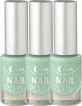 Etos Nailpolish 080 - Green Sugar - Sugar - Groen - 3 stuks - Nagellak