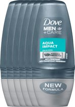 Dove aqua impact Men + Care - 50 ml - deodorant roller - 6 st - Voordeelverpakking