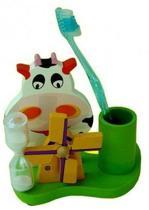 Woody tandenborstel houder met molen