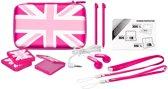 Bigben Accessoirepakket Engelse Vlag 3DS XL + New 3DS XL + DSi XL + 3DS - Roze