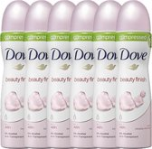 Dove beauty finish Women  - 75 ml - deodorant spray - 6 st - voordeelverpakking
