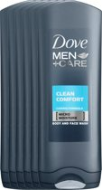 Dove Men+Care Clean Comfort - 250 ml - Douche Gel - 6 stuks - Voordeelverpakking