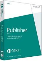 Microsoft Publisher 2013 - Engels / 32-bit/64-bit / 1 Licentie / Medialess