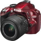 Nikon D3200 + 18-55mm VR II - Spiegelreflexcamera - Rood