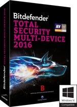 Bitdefender Total Security Multi-Device 2016 - Nederlands / Frans / 2 Jaren / 5 Apparaten