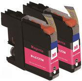 Brother LC 123 M XL inktcartridge rood 10 ml 2 stuks Cartridge
