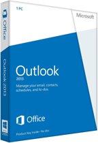 Microsoft Outlook 2013 - Engels / 32-bit/64-bit / 1 Licentie / Medialess