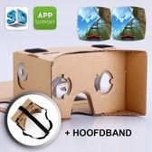 Google Cardboard + Hoofdband | Virtual reality bril
