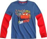 Disney Cars Jongensshirt - Blauw / Rood - Maat 128