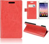 Portemonnee klap hoesje rood Huawei Acsend P7