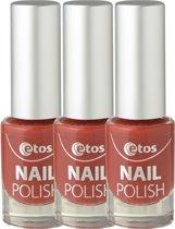 Etos Nailpolish 021 - Bloody - Rood - 3 stuks - Nagellak