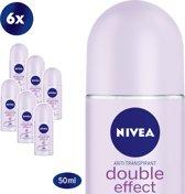 NIVEA Double Effect - 50 ml - Deodorant - 6 st - Voordeelverpakking