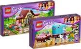 LEGO Friends paarden voordeelbundel: Heartlake Paardenstal 3189 + Emma's Paardentrailer 3186