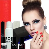 So! Soak Off Starter Kit - Be My Valentine Met Uv Led Lamp - Gel nagellak