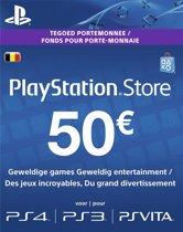 Belgische Sony PlayStation Network Voucher Card 50 Euro België - PS4 + PS3 + PS Vita + PSN