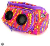 JammyPack NEON AZTEC PURPLE heuptas met 5W stereo mini-speakers voor iPhone, mobiel of smartphone