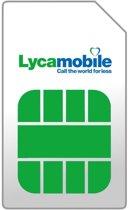 Lycamobile prepaid simkaart €15 beltegoed en 50MB Data