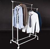 TecTake dubbel kledingrek - kledingroede kledingrekken - met wielen ...