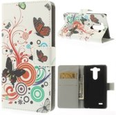 qMust LG G3 S Wallet Case met stand (Butterfly Circle)