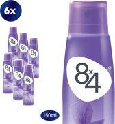 8x4 Beauty - 150 ml - Deodorant - 6 st - Voordeelverpakking