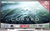 Salora 55UHC9102MS -  Curved led tv - Smart TV - Ultra hd / 4k - zwart