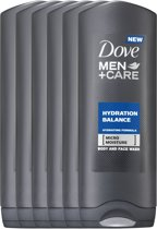 Dove Men+Care Hydration Balance - 250 ml - Douche Gel - 6 stuks - Voordeelverpakking