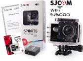 SJCAM™ SJ5000 WiFi in Black met extra accu en Kingston 32Gb Class 10 Micro-SD