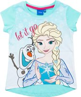 Disney Frozen Meisjes T-shirt - Lichtblauw - Maat 128
