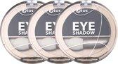 Etos Eyeshadow 005 - Zwart - 3 stuks - Oogschaduw