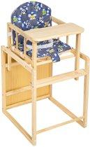 Kinderstoel stoel kinderen kinder kleinekinderstoel babystoel hout + tafel blauw 401324