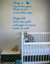 Stickythings Muurtekst Buikje vol Oceanblue Mat
